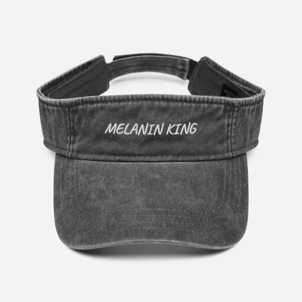 Melanin King - Denim visor