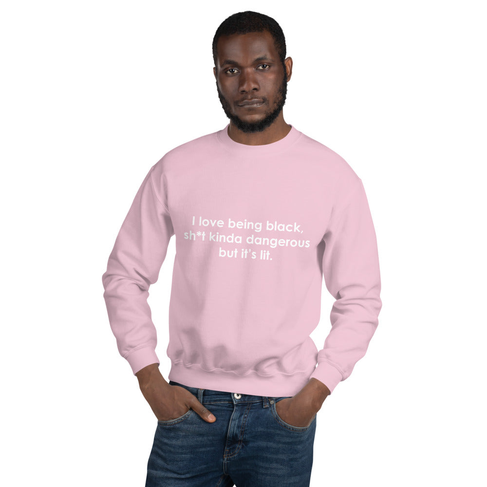 I Love Being Black - Unisex Sweatshirt