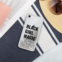 Black Girl Magic - Liquid Glitter Phone Case