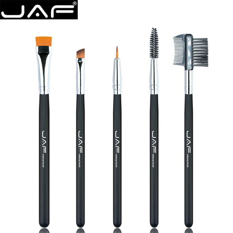 100% Vegan Eye Makeup Cosmetic Brush Set - 5 Pieces