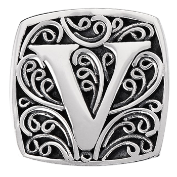 """V is for Va Va Voom!"" slide charm  from Bonn Bons by Lori Bonn (29920XV)"