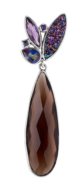 pizzazz long teardrop pendant