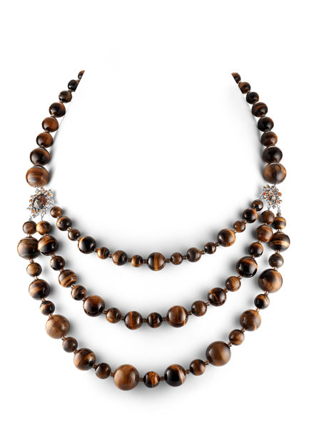 Gusto Multi-strand Cluster Bead Necklace