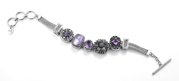 """The Grape Stomper"" charm bracelet from Get The Look by Lori Bonn (411128)"