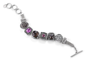 """The Center of Attention"" charm bracelet from Get the Look by Lori Bonn (410107)"