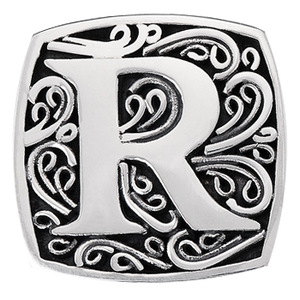 """R is for Radiant"" slide charm   from Bonn Bons by Lori Bonn (29920XR)"