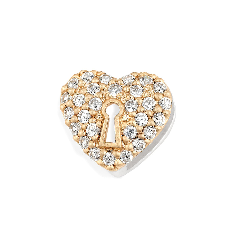"""Heart of Gold"" slide charm from Bonn Bons by Lori Bonn (212185Z)"