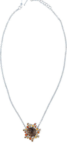 Gusto Cluster Solitaire Pendant from Collections by Lori Bonn (512504SQ)