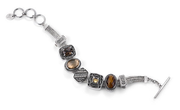 """The Brown Eyed Girl"" charm bracelet from Get The Look by Lori Bonn (410106)"