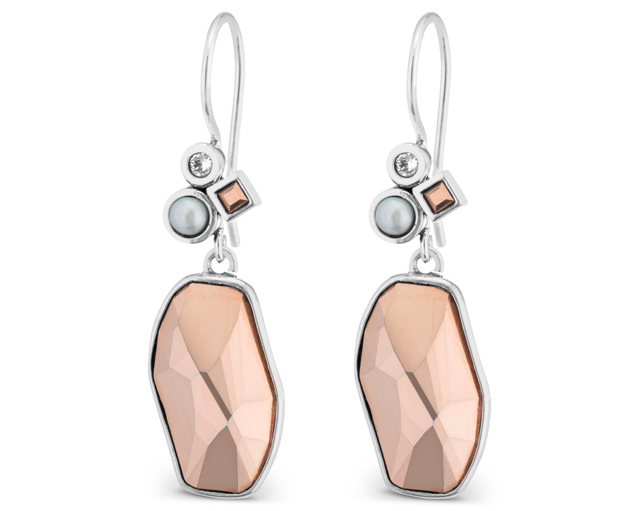 All That Glitters is Rose Gold Earrings by Lori Bonn (114203)