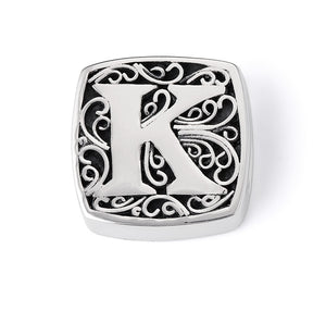 """K is for Kissable"" slide charm"