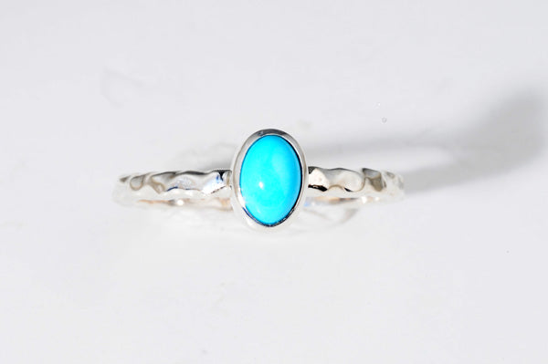 December Turquoise stackable ring