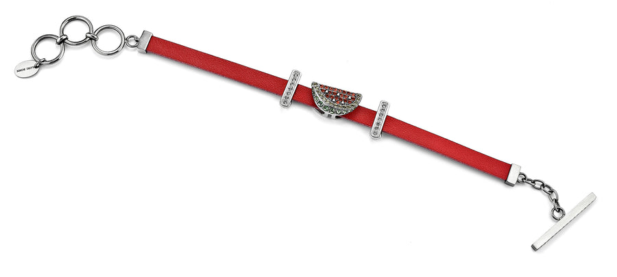 The Melon-dramatic leather bracelet from Get the look by Lori Bonn (413959)
