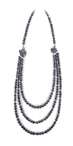 pizzazz peacock pearl necklace