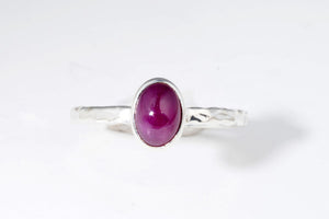 July Ruby stackable ring