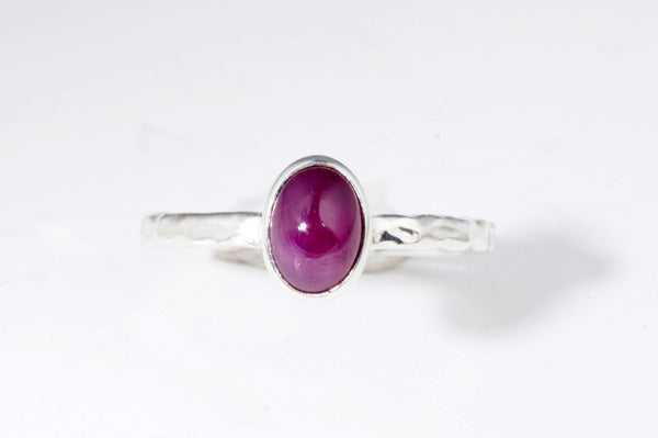 July Ruby stackable ring from Last Chance by Lori Bonn (310907R)