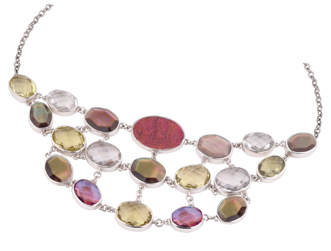 Bloom Multi-Stone Bib Necklace