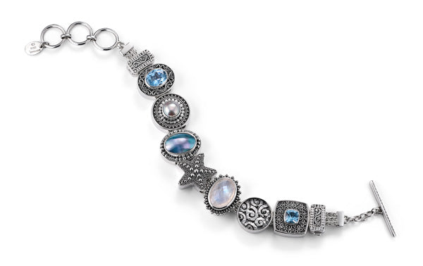 """The Beach Comber"" charm bracelet from Get the Look by Lori Bonn (410102)"