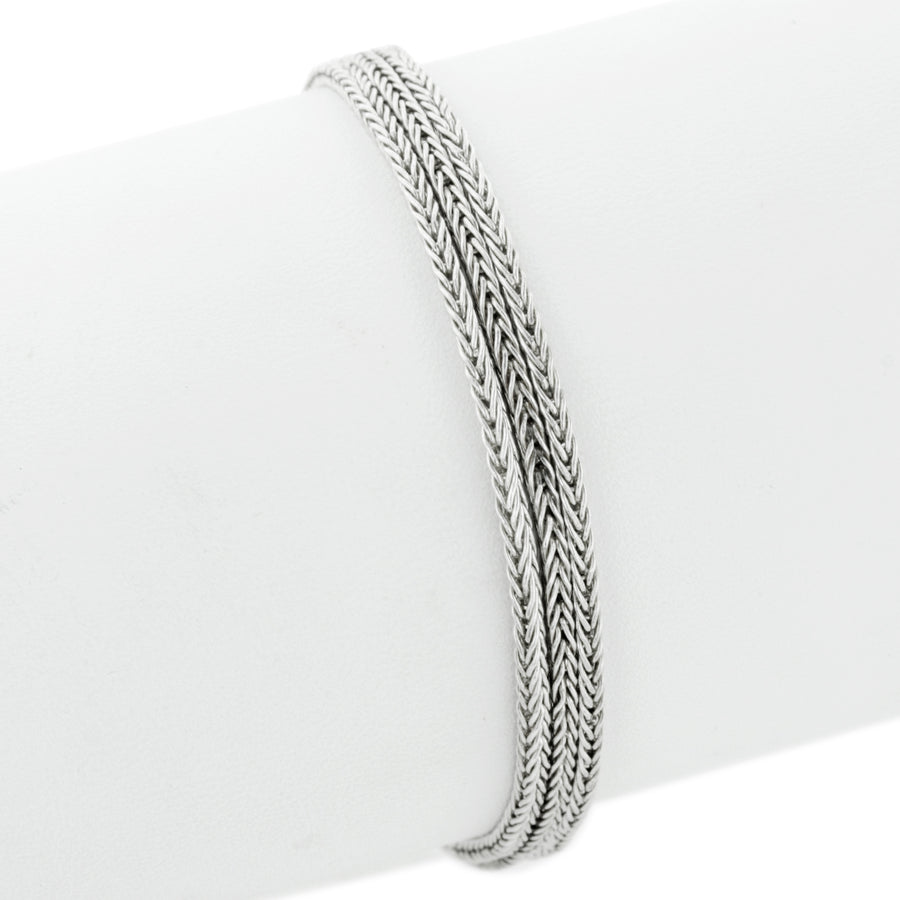 Triple strand silver slide charm bracelet - long from Bonn Bons by Lori Bonn (49900L)