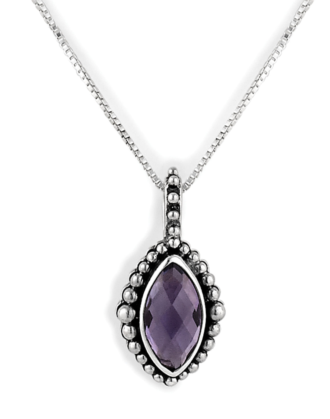 "February ""Secret Admirer"" Birthstone Necklace from Bonn Bons Birthstone Necklaces by Lori Bonn (512902HMA)"