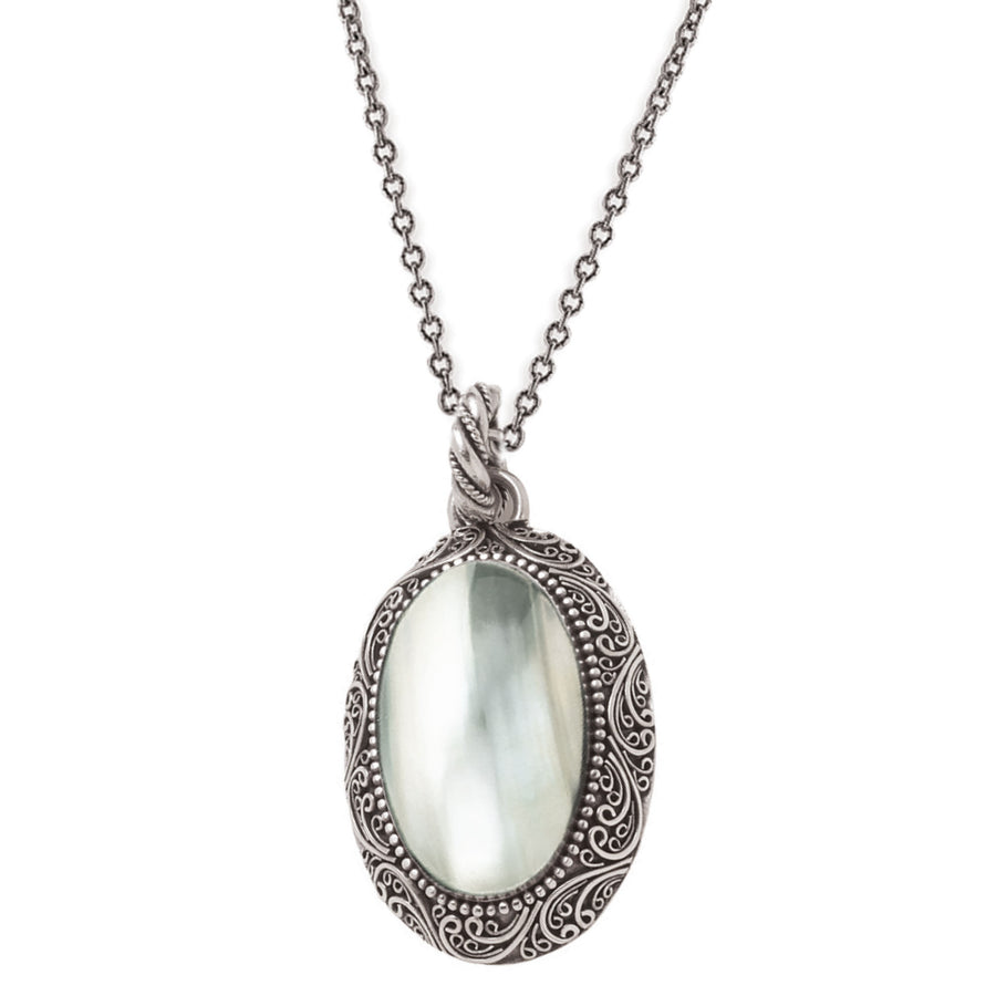 "Crème de la Crème Oval Pendant on 28"" Chain"