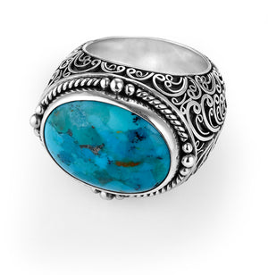 moxie oval filigree cocktail ring from Lori Bonn Collections by Lori Bonn (312300CT)