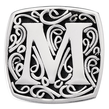 """M is for Memorable"" slide charm  from Bonn Bons by Lori Bonn (29920XM)"