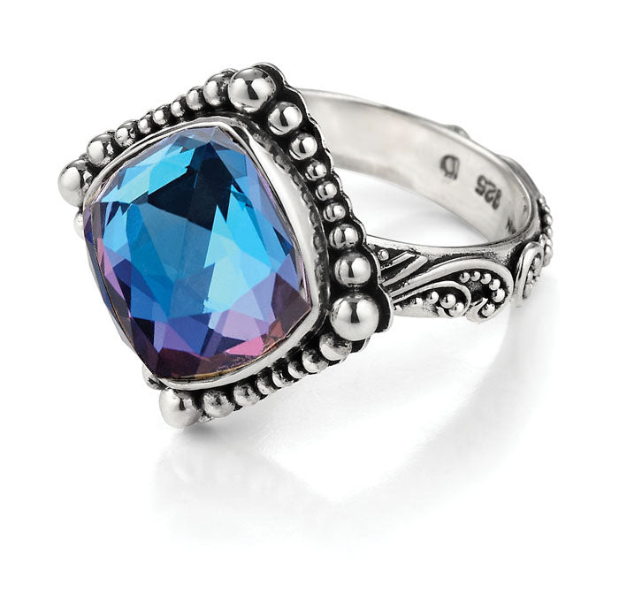 True Blue Cocktail Ring from True Colors by Lori Bonn (31301MQ)