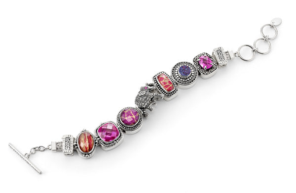 """The Wild One"" charm bracelet from Get the Look by Lori Bonn (412201)"