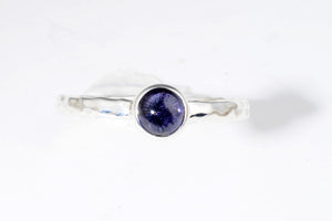 September Iolite stackable ring