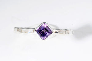 Feburary Amethyst stackable ring from Last Chance by Lori Bonn (310902A)