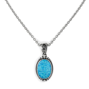 "Calm, Cool & Collected Pendant on 18"" Chain from Bonn Bons by Lori Bonn (51301OPLBGM)"