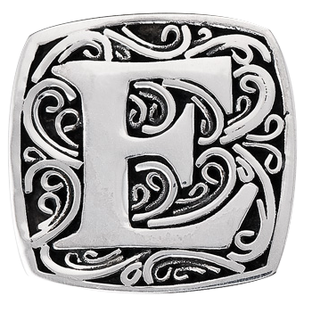 """E is for Eccentric"" slide charm   from Bonn Bons by Lori Bonn (29920XE)"