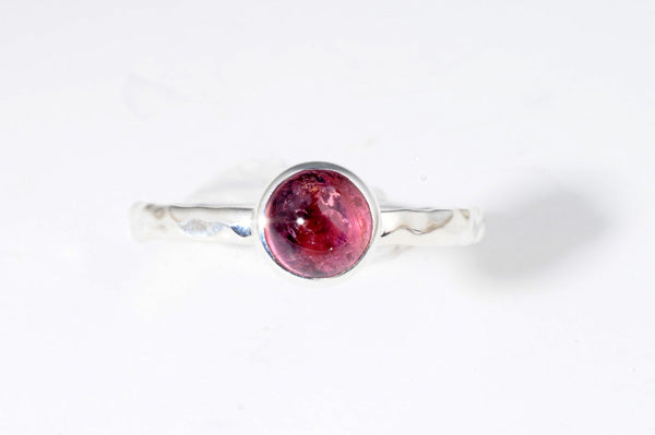 October Pink Tourmaline stackable ring