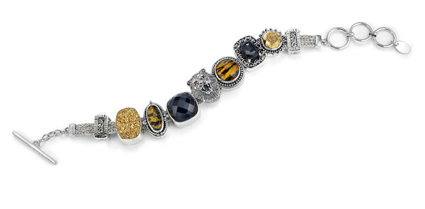 """The Queen of the Jungle"" charm bracelet from Get the Look by Lori Bonn (412202)"