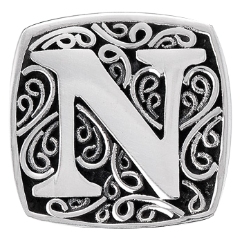 """N is for Naughty"" slide charm   from Bonn Bons by Lori Bonn (29920XN)"