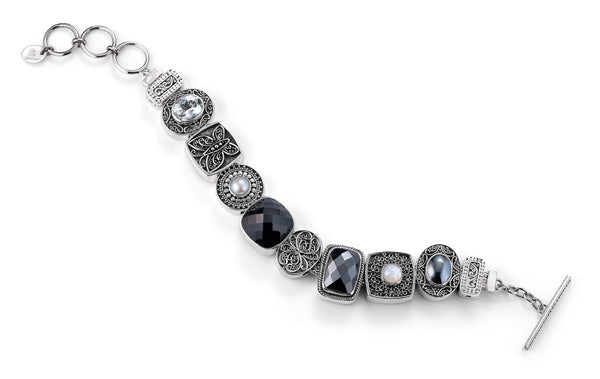 """The Uptown Girl"" charm bracelet from Get the Look by Lori Bonn (410104)"