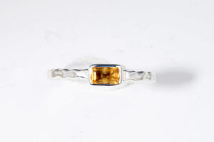 November Citrine stackable ring from Last Chance by Lori Bonn (310911C)