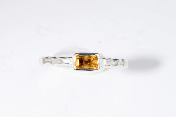 November Citrine stackable ring
