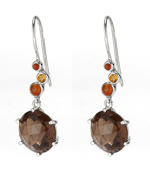 Gusto Round Drop Earrings