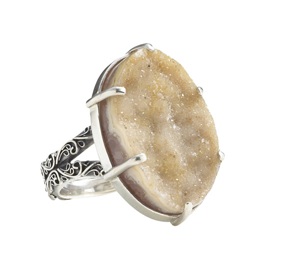 Chrysalis Rock Hound Cocktail Ring, Size 6 by Lori Bonn (38808DRN)