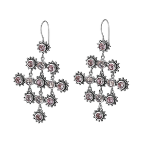 Rosy Future Chandelier Earrings from Bonn Bons by Lori Bonn (115201RS)