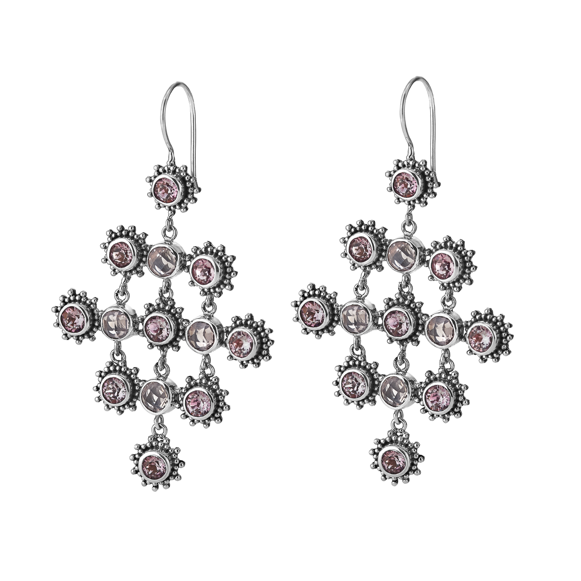 Rosy Future Chandelier Earrings