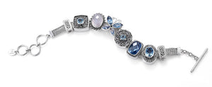 """The Blue Jean Baby"" charm bracelet from Get the Look by Lori Bonn (411129)"