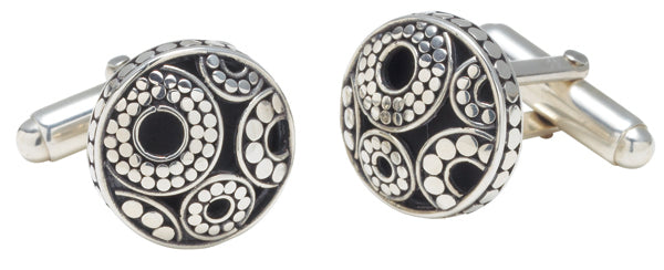 Galaxy Round Cufflinks from Last Chance by Lori Bonn (28904)