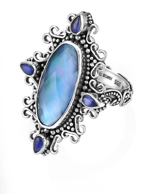 Flight of Fancy Cocktail Ring by Lori Bonn (313400BGMOP)