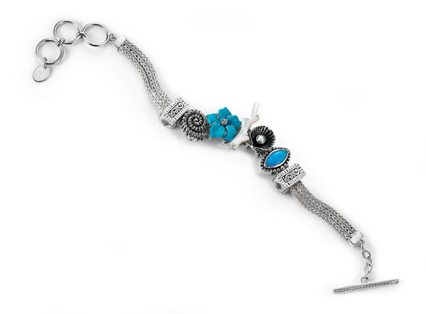 """The Shell Shocker"" charm bracelet from Get the Look by Lori Bonn (412200)"
