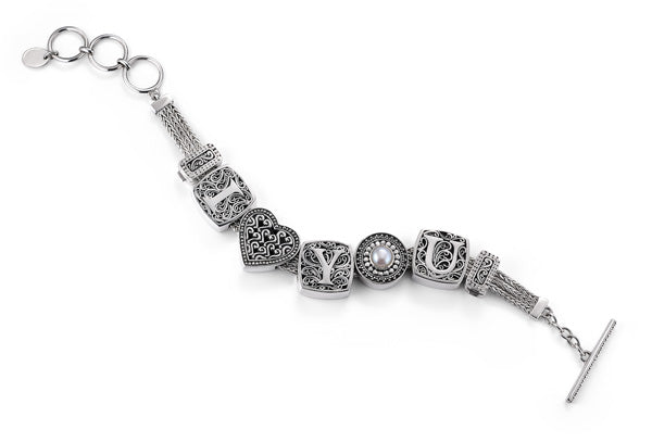 """The Love Note"" charm bracelet from Get the Look by Lori Bonn (410112)"