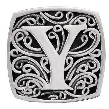"""Y is for Youthful"" slide charm   from Bonn Bons by Lori Bonn (29920XY)"