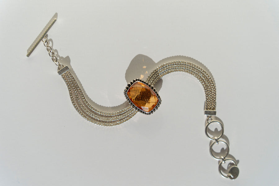 Limited Edition Sterling Silver and Hydro Citrine Slide Charm